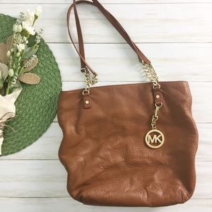 MICHEAL Michael Kors Brown Pebbled Leather Tote